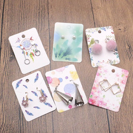 $enCountryForm.capitalKeyWord NZ - 200pcs 5x7cm Colorful Paper Necklace&Earring Cards Jewelry Ornament Display Card Case DIY HandMade Accept Custom Logo