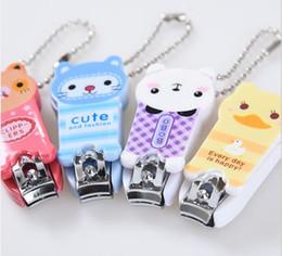 Universal Charm NZ - Key Chain Cute Cartoon Nail Scissors Panda Nail Clippers Frog Nail Clippers Universal Charm Mobile phone chain 172