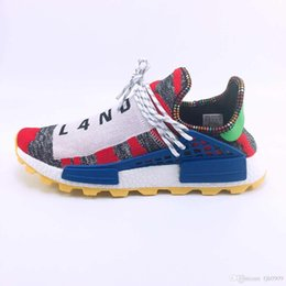 fd219cc4f731e Different prices Human Race Afro Hu Trial Red Green Pharrell Williams men running  shoes Black Solar Pack-3 women trainers sports sneaker
