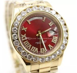 Steel pearl online shopping - men Watch Gold President Day Date Diamonds Watch Men Stainless Mother Of Pearl Diamond Bezel Automatic WristWatch Watches C1