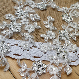 Wholesale French 3D lace appliques with beads and sequins wedding dress DIY materials costume accessories DZ05