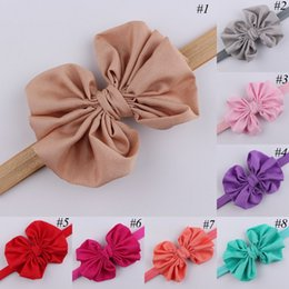 Wholesale Girl big Bow Hair Band newborn Bowknot Headband baby Elastic Hairband infant hair Wear Baby Photography Props