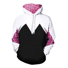 spiderman costume women 2019 - Spider-Man:Homecoming Gwen Hoodie Coat Stacy Cosplay Costume for Halloween Costume for Women Female Spiderman Sweater