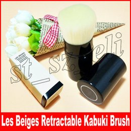 Blush cosmetic makeup Brush online shopping - Famous Luxury Brand Les Beiges RETRACTABLE KABUKI BRUSH with Box Package blush eye shadow Cosmetics Makeup Brush