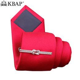 $enCountryForm.capitalKeyWord Australia - KBAP Men's Fashion Metal Tie Clips Silver Black Knot Design Neck Tie Bar Clip Necktie Clasp Pins Wedding Business Favor Gifts