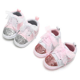 $enCountryForm.capitalKeyWord NZ - Baby Shoes Girl Bandage Shoes Sequins Fashion Toddler Pink Sneaker Kid casual for Girls Anti-slip