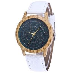 starry sky clock 2019 - Simple Women's Bracelet Watches Leather Quartz Wristwatches Clock Starry Sky Luxury Ladies Dress Watches For Couple