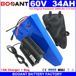 Motor Bicycles Australia - BOOANT No Tax to US EU triangle Lithium Battery 60V 34AH Electric Bicycle Battery 1500W Motor E-bike Battery 60V +5A Charger