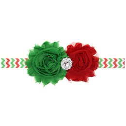 handmade hairbands baby girl UK - TOP Baby Christmas Party SunFlower Satin HeadBands 2pcs Handmade Flowers With Rhinestone Tie Bow Girls Boutique Accessories CB10
