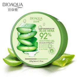 $enCountryForm.capitalKeyWord Australia - TOP BIOAQUA 220g Nature Aloe Vera 92% Sooting Moisture Acne Treatment Face Cream Pure Aloe Vera Gel For Face Skin Care Free Shipping