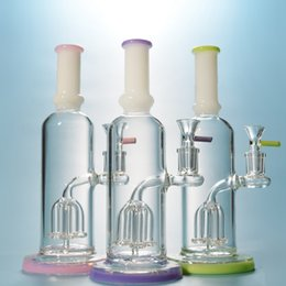 Beaker Base Tree Arm Bong NZ - Glass Bong Thick Heady Bongs With 4 Arms Tree Quadruple Showerhead Smooth Dab Wax Oil Rigs Beaker Base For Smoking With Bowl