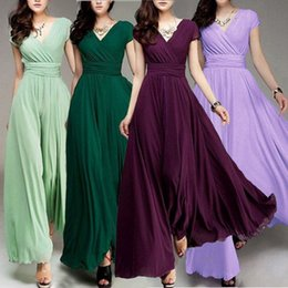 PePlum dresses online shopping - Women Long Formal Evening Prom Party Bridesmaid Chiffon Ball Gown Cocktail Dress Casual Dresses
