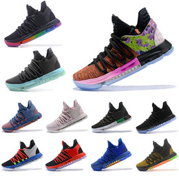 1200ba77c57 Nuevo What The Nike Air KD 10 Jordan zapatos de baloncesto para hombre All  Star Aunt Pearl Be True BHM Black White City Edition Igloo Sports Sneakers  40-46
