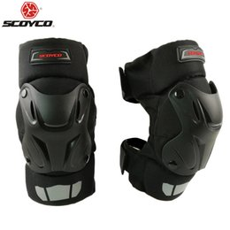 Bicycling Gear UK - SCOYCO Black Motorcycle Motocross Bike Bicycle Pads Racing Off Road Knee Pads Protective Guards Armor Gear k15-2