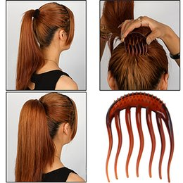 Hair volume insert online shopping - 2Pcs color Useful Volume Inserts Hair Clip Bumpits Bouffant Ponytail Hair Comb Hairpin Fluffy hairband accessories