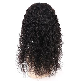 free human hair wigs 2019 - 130% Density Full Malaysian Water Wave Wigs 8-20Inches Lace Front Human Virgin Hair Wigs With Baby Hair Pre Plucked No S
