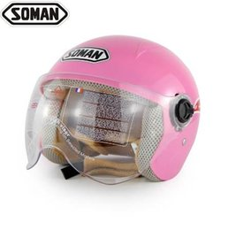 kids safety helmets 2019 - 5-14 Years old Soman 305 Kids Helmets Children Motorcycle Helmets Boy Girl Safety Cap 10 Colors discount kids safety hel