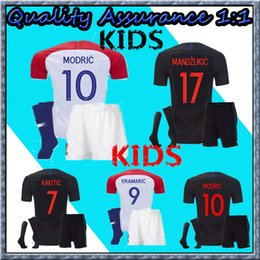 3bf2aa14cbf Thai Quality kids kit 2018 World Cup Designed for Soccer Jersey MODRIC  PERISIC RAKITIC MANDZUKIC SRNA KOVACIC Red KALINIC Hrvatska Football