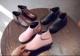 Short loop online shopping - 2018 girls autumn winter velvet new children Korean version two cotton boots little girl baby princess short boots
