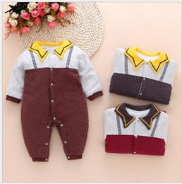 Stripe Baby Pagliaccetti Ragazza Ragazzi Costumi Abbigliamento Tuta  sportiva invernale Tute per le ragazze di alta qualità Vestiti caldi Bambini  Tuta spessa ... 52041a145ff