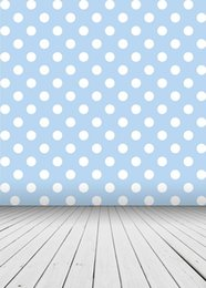 China 5x7ft Vinyl Blue Background White Dots Pattern Baby Boys Kids Backdrop Photography Props Studio Background suppliers