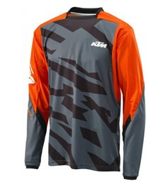 KTM Speed ​​Reduced Cycling Jersey Tops Verano de manga larga Camisas Offroad Moto Racing Camisetas Envío gratis en venta