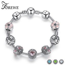 TibeTan snake charms online shopping - FOREWE Tibetan Silver Charm Bracelet Bangle Fit Original Brand Charm Beads Bracelets for Women Wedding Party Jewelry Gift