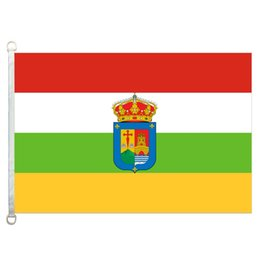 Wholesale coat of arms resale online - La Rioja with coat of arms Flag Banner X5FT x150cm Polyester gsm Warp Knitted Fabric Outdoor Flag