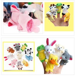 Plush farm finger PuPPets online shopping - Mini Finger Puppets Animal Hand Puppet Baby Plush For Toddlers Cloth Toys Play Learn Story Party Bag Fillers Farm Zoo Boll