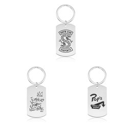 Movie Steel NZ - Riverdale Keychains Stainless Steel Hot Movie Printing Keyrings Men Women Memento Film New Arrival Gift For Child Fashion Jewelry wholesale
