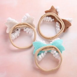 Wholesale 40pcs Baby Girl s hair band Birthday Gift Soft Big Bow Fashion Headband Holiday Wear hair accessories