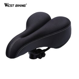 $enCountryForm.capitalKeyWord Canada - Bicycle Cycling Comfortable Saddle Seat Silicone Pad Cushion Cover For Bike Bum Bike Bicycle Gel Sporty Soft Pad Saddle Seat