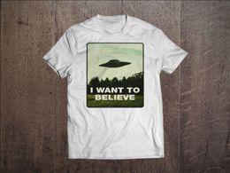 $enCountryForm.capitalKeyWord Canada - I Want To Believe Men White T-shirt X-Files Fan Tee UFO Alien Shirt S M L XL XXL