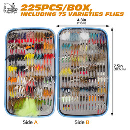 pike flies Canada - 225pcs Wet Dry Fly Fishing Flies Lure Set Fly Tying Material Wet hand tied Nymph Flies for Trout Pike Tackle Artificial