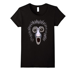 t shirt design face 2019 - Women's Tee Howling Monkey Animal Face T-shirt Funny Short Sleeve Tracksuit Clothing Design T Shirt Novelty Tops 20