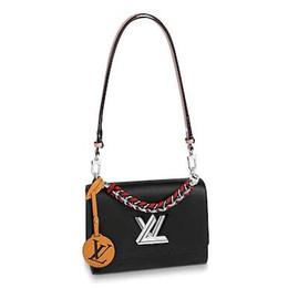 $enCountryForm.capitalKeyWord Australia - 2019 M52503 TWIST MM black Real Caviar Lambskin Chain Flap Bag LONG CHAIN WALLETS KEY CARD HOLDERS PURSE CLUTCHES EVENING