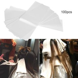 $enCountryForm.capitalKeyWord NZ - 100pcs pack Pro Salon Hair Dye Paper Recycleable Separating Stain Dyeing Color Barber Highlight Tissue Hairdresser Salon Tool