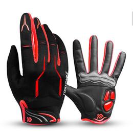 Gloves bicycle full finGer online shopping - Touch Screen Cycling Gloves Full Finger Bicycle Sport Shockproof Non Slip Shock Absorption Elastic Bike Glove For Men Woman kg jj