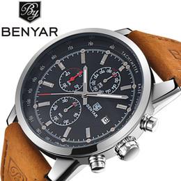 $enCountryForm.capitalKeyWord NZ - Benyar Men Watch Top Brand Luxury Male Leather Waterproof Sport Quartz Chronograph Military Wrist Watch Men Clock relojes hombre Y1892107