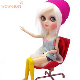 Toy Furniture Wholesale NZ - HOT Plastic 1 6 BJD Doll Chairs Doll Accessories For Monster Dolls,Dollhouse Furniture Toys for Dolls Children Toy