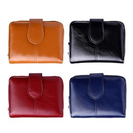 small wax bags 2018 - Retro Women Oil Wax Short Wallet PU Leather Hasp Coin Purse Clutch Female Purse Money Bag Small Wallet Coin Pocket cheap