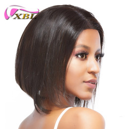 Brazilian lace wig parting online shopping - xblhair human hair bob wigs middle part straight human hair from xblhair factory straight front lace wig