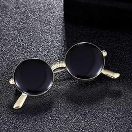 Kids Summer Sunglasses UK - Three size jet color enamel sunglasses brooches bouquet fashion summer brooch style women's hats accessory kids gifts gifts