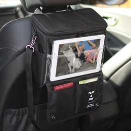 visor phone Australia - Car Back Seat Organizer Food Storage Bag Insulated Container Pad Phone Holder Stowing Tidying Automobiles Interior Accessories