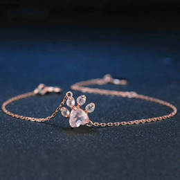 3c2053a52 Bracelet s 925 online shopping - Paw Natural Heart Pink Quartz Sterling  Silver Jewelry Rose Gold