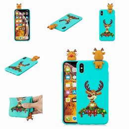 silicon animal cases for iphone 2019 - Christmas PhoneSoft Silicon Santa Claus Christmas Animals Deer Back Cover Case for iphone XS NAX XR X 5G 6G 7G 8G PLUS S