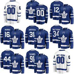e1e92482d Mens Womens Kids Youth Custom Blank Toronto Maple Leafs 34 Matthews 91  Tavares 29 William Nylander 43 Nazem Kadri Hockey Jerseys Blue White