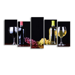 $enCountryForm.capitalKeyWord UK - 5 pieces high-definition print grapes Wine canvas oil painting poster and wall art living room picture HX-004