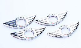 Discount mini door stickers - I LOVE MINI Sticker Emblem Wing Decoration For BMW MINI Cooper R55 R56 R57 R58 R59 Door Lock Knob creative