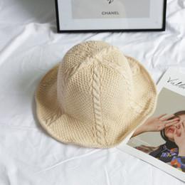 $enCountryForm.capitalKeyWord Canada - Summer Vintage Knit Plain Hat Leisure Travel Vacation Bucket Hat Fold Roll Girl Sun Leisure Travel Vacation Beach sale